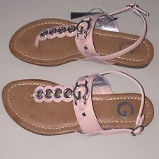 32af68943c2f40 Womens G by Guess   Flip Flops Sandals Metallic Pink   Tan Size 6 New