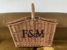 FORTNUM & MASON F&M WICKER PICNIC HAMPER BASKET