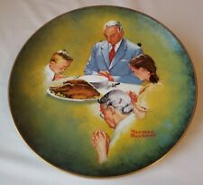Norman Rockwell Museum 1980 Giving Thanks American Family Series Plate 2954