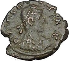 ARCADIUS 383AD Ancient Roman Coin VICTORY Nike Cult  i40433
