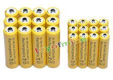 12x AA 3000mAh +12x AAA 1800mAh 1.2V NI-MH recargables batería 2A 3A amarillo