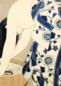 Washing Her Hair 22x30 Japanese Print by Ito Shinsui Asian Art Japan