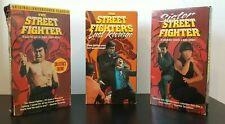 "THE STREET FIGHTER, Introducing Sonny Chiba, ""Alliance Video"" 3 VHS TAPES"