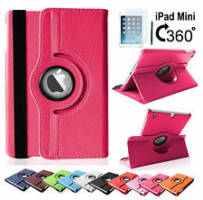 360 Grad Schutzhülle Apple iPad Mini 1 2 3Hülle Tasche Case Cover Etui + Folie