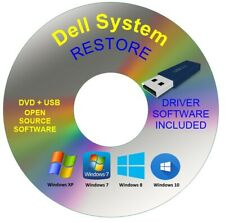 Dell System Recovery Boot Repair Restore USB Drive Windows 10 8 7 Vista XP