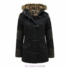 Brave Soul Zip Cotton Patternless Coats & Jackets for Women
