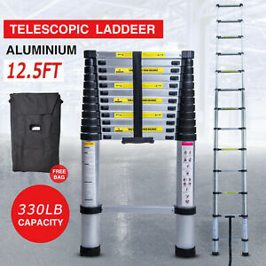 12.5FT Step Ladder ExtensionTelescoping Light weight Portable Folding Telescopic
