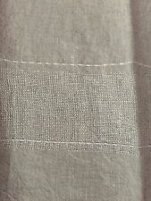 NEW Pottery Barn 2PC Lurex Kitchen Towel~Set Of 2~Linen w/Silver Threads Natural