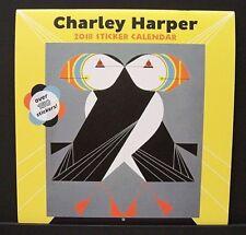 Charles/Charley Harper New 2018 Large Sticker Wall Calendar