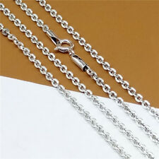 Sterling Silver Cable Chain Necklace Women Necklace 2.5mm 20 22 24 26 Inches