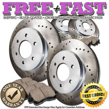 C0194 FRONT+REAR Drilled Brake Rotors Ceramic Pads FOR 2004 2005 F150 4WD 6 Lug