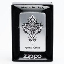 Zippo Tribal Cross Sl Lighters Genuine Authentic Org Packing 6 Flints set GIFT