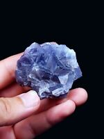 83g Natural fluorite Crystal Perfect cubes Mineral Specimen From Balochistan