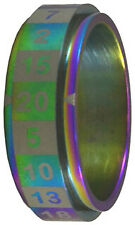 R20 Dice Ring - Size 08 Rainbow CritSuccess GAMING SUPPLY BRAND NEW ABUGames