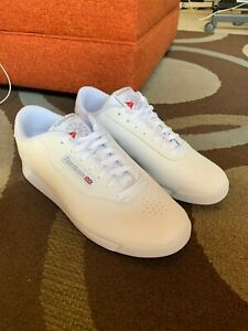 Women's Reebok Princess Shoes 11 WIDE White Sneakers EXCELLENT CONDITION Used