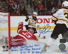Brad Marchand Boston Bruins Signed Inscribed 26th SHG Record LE #'d/26 16x20