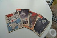 4 Hefte Rußland 2. Weltkrieg, russische Propaganda, Stalin, original von 1944