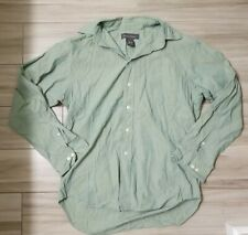 Banana Republic Men's Button Down Green Sz Small Long Sleeve 100% Cotton