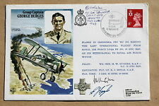GROUP CAPTAIN BURGES COVER 1978 SIGNED BY WW2 SPITFIRE PILOT BILL MALONE