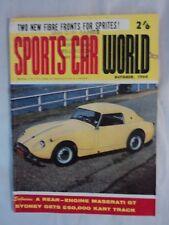 Sports Car World Magazine October 1960 Sunbeam Rapier Felicia 1908 Brush SH G/C