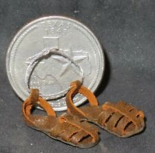 Dollhouse  Dolls Cobbler Baseball Shoes Leather Sneakers with Cleats Miniature