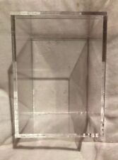 """US Acrylic lucite Cube Clear Display Box Case Plastic Dustproof 5.5"""" x 7.25"""" New"""