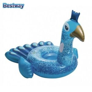 Bestway Supersized Inflatable Peacock Lilo With Handles & Cup Holder NEW Intex