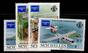 SEYCHELLES QEII SG644-647, 1986 ameripex set, NH MINT.