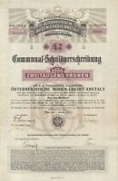Österreichische Boden Credit Anstalt Schuldverschreibung 2000 Kronen aus 1911