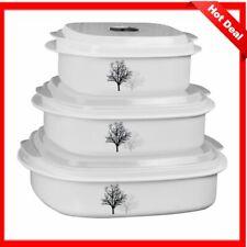 Corelle Coordinates 6-Piece Microwave Safe Cookware/Storage Set, Timber Shadows