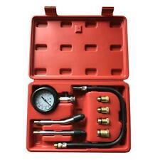 8pcs Automotive Petrol Engine Cylinder Compression Tester Kit Gauge Tool US Ship