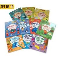 My First Activity Books Set of 10. Maze-Numbers-Maths-Puzzles-Search + More....