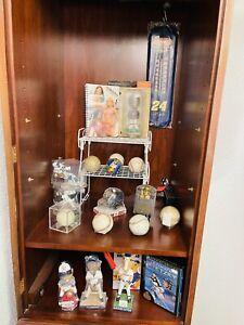Mixed Sports Lot Autographed BallS Bobbleheads Figurines Plaque MLB NFL NBA