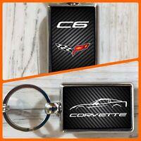 Chevy Corvette Leder Schlüsselanhänger C3 W Ss 6.2 V8 Chevrolet Schwarz