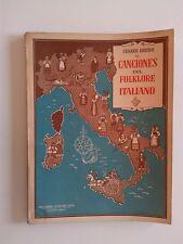 1948 Cesare Brero, 38 Canciones del Folklore Italiano Canto y Piano