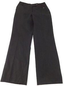 DAVID N WOMENS BLACK WOOL DRESS PANTS SIZE 0