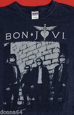 Bon Jovi T Shirt Large 2011 Concert Tour Rock and Roll Music Blue