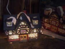 CHRISTMAS VILLAGE LIGHTED HOUSE ACE HARDWARE STORE PORCELAIN TOWN BUILDING TRAIN