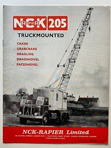 nck rapier 205 truck mounted crane vintage dealers brochure 1960s earthmoving