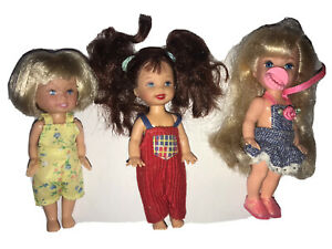 Lot Barbie : 3 Mini Poupees Shelly Et Autre