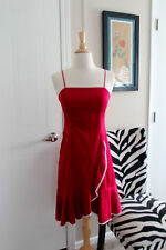 BCBG Max Azria Fitted Red Pinup Flamenco Style Sleeveless Dress Size 0 EUC