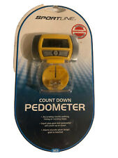 NEW SPORTLINE Walking Advantage Count Down PEDOMETER Alarm When Goal Is Reached