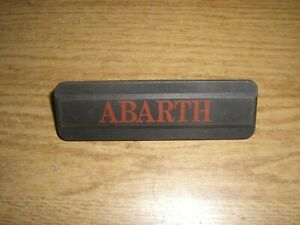 Emblem Badge Autobianchi A 112 Abarth ca. 9,5 x 3 cm, Plastik