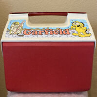 Vintage Garfield Thermos 15qt / 14 Liter Plastic Cooler Made In The USA RARE