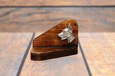 Doberman pincher - wooden candlestick with dog, high quality Art Dog type 2 USA