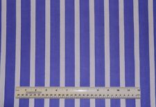 1/2 yd cotton quilt fabric Lets Play Dolls purple and white stripe wide stripe