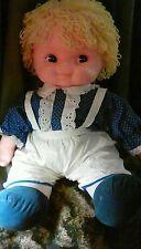 "Vintage 1977 Uneeda Bumpkins 23"" Doll Yellow Yarn Hair Cloth Body Ice Cream Doll"