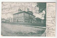 [53823] 1906 POSTCARD HIGH SCHOOL IN DANBURY, CONNECTICUT