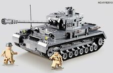 German WW2 Panzer IV Tank c/w Army Figures Compatible Building Bricks 1193pcs