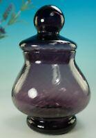 VINTAGE AMETHYST EMPOLI BON BON APOTHECARY JAR ITALIAN ART GLASS MID CENTURY